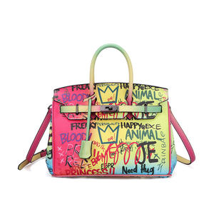Wholesale graffiti shoulder bag jelly ladies handbag