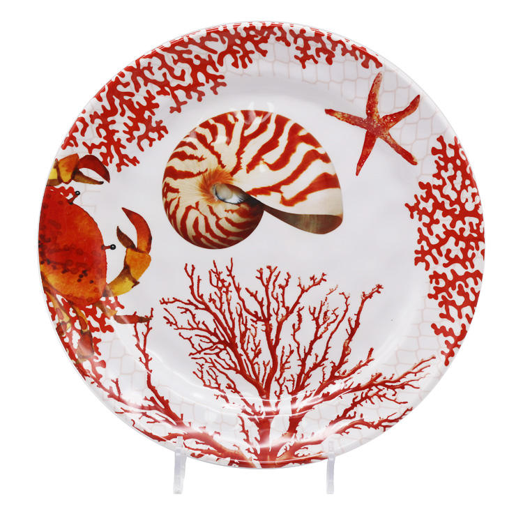 wholesale tropical wedding appetizer manufacture melamine shell dinner oval deep plate turkey platter set
