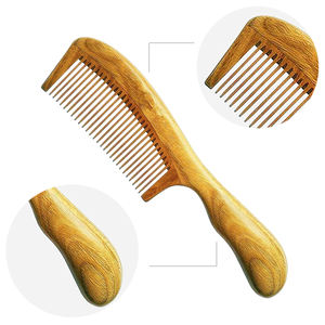 No static bamboo nature wooden hair comb&beard comb for women