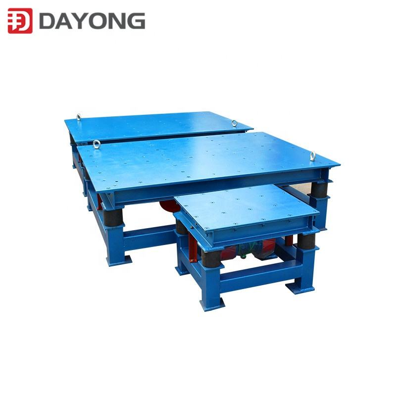 Concrete vibration test table for concrete moulds