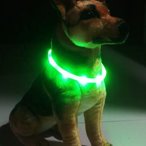 Rechargeable Water Resistant Bright Light Up Cuttable Safety LED Dog Collar