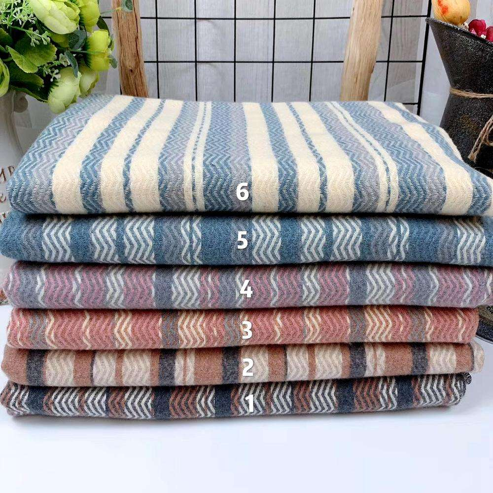 hot sell twill stripe cashmere scarf for girl's winter scarves super warm and fashion scarf and shawl