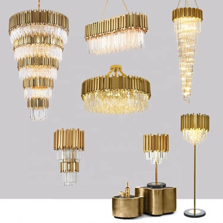 Chandeliers Crystal Lamp Pendent Light Hotel Lobby Pendant Lighting Chandelier Modern