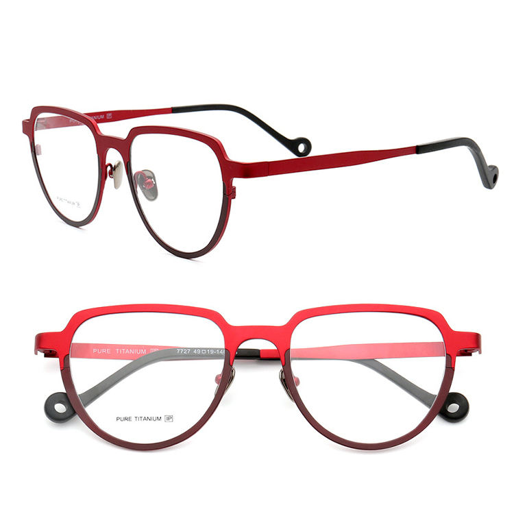 Titanium Eyeglasses Frames IP Cat Eye Glasses Women Men Metal Prescription Lenses for Myopia Optical Frame