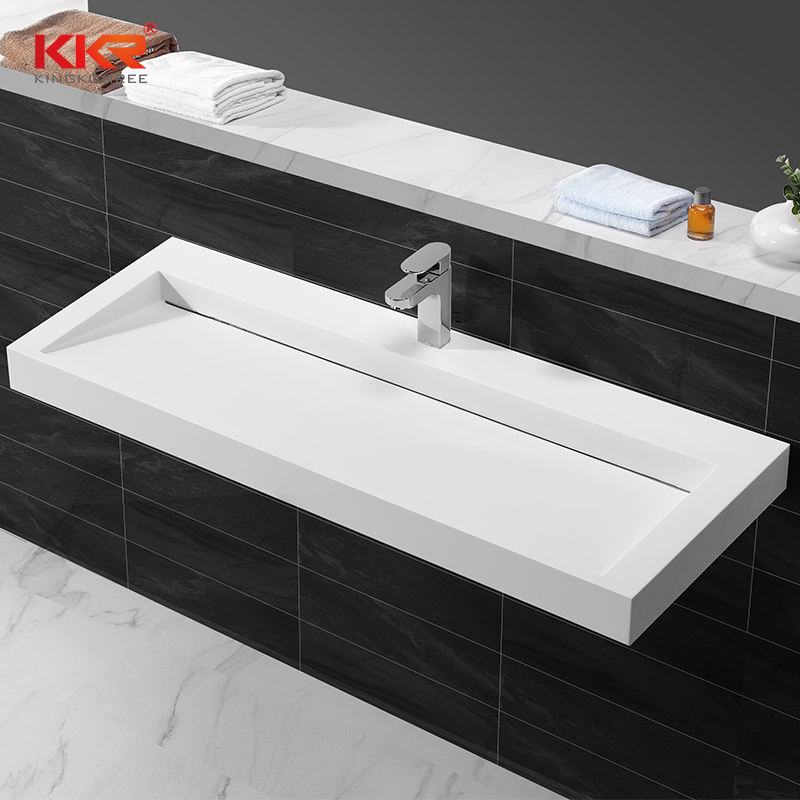 Artificial Stone Acrylic Solid Surface Wall Hung Hand Wash Basin