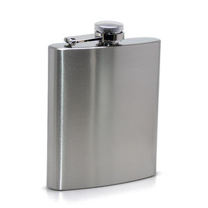 Hot Selling Promotional 200 ML Silver Color Liquor Hip Flasks High Quality Portable Blank 7oz Stainless Steel Hip Flask