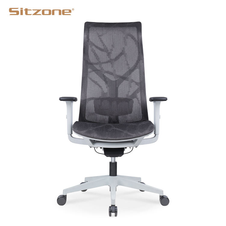 Sitzone Heated High Back Adjustable Armrest Full Mesh Cover Executive Task Ergonomic Office Chairs