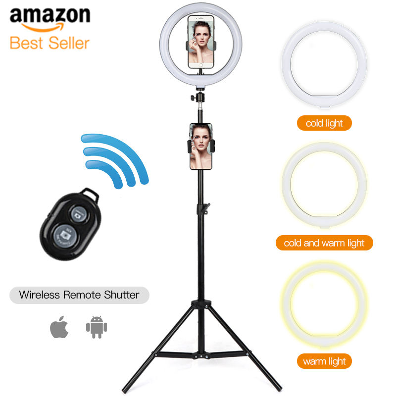 Portable Mini 26Cm Led Selfie Ring Light With Tripod Stand Ring Light 10 Inch Tiktok Ring Light Tripod 20Cm 2020