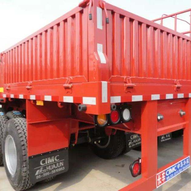 3 axles side wall / dropside cargo semi trailer
