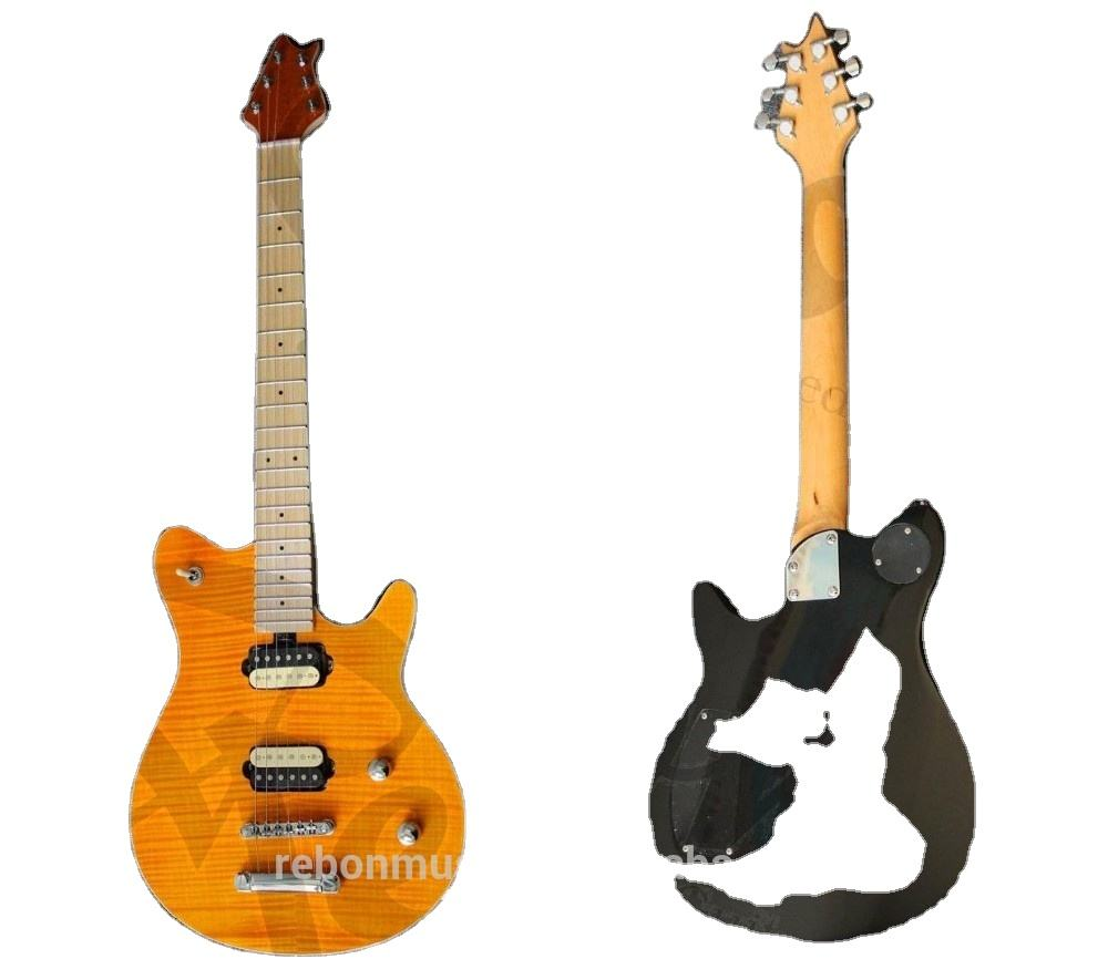 Weifang Rebon Flamed Maple <span class=keywords><strong>Guitar</strong></span> Điện