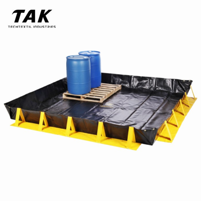 Portable Environmental Protection Liquids Water Oil Spill Containment Berm