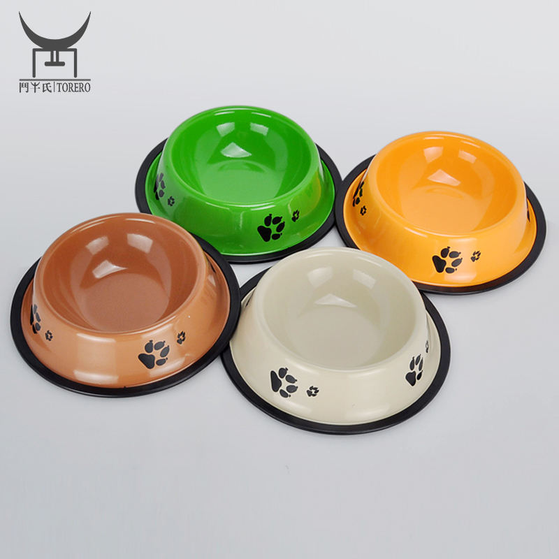 Iron pet feeder bowl products for dog & cat metal food bowls custom color laser logo service available