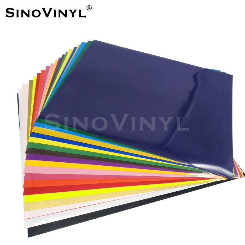 SINOVINYL Wholesale Price Stretchable PU PVC Glitter Rainbow Chrome Reflective Heat Press Transfer Vinyl Sheets for T-Shirts