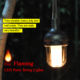 Newest Connectable Dancing Fire Flame Christmas Decoration Garden Outdoor LED String Lights