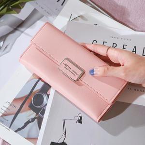 Wholesale of the new women's wallet of 2019 Japanese and Korean version of simple fashion, large capacity, multi-card wallet