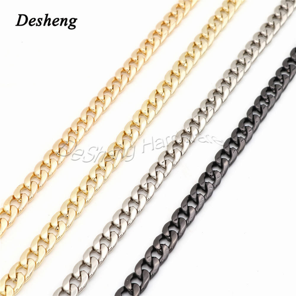 Bag Hardware Accessories 2.5mm Golden Metal Purse Strap Bag Chain with Snap Hook