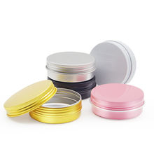 30mL 50mL 60mL 80mL 100mL 150mL Round Cosmetic Containers Jars Screw Lid Tin Box Silver Aluminum Cans