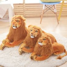Custom different sizes china yellow simulation plush toys lion
