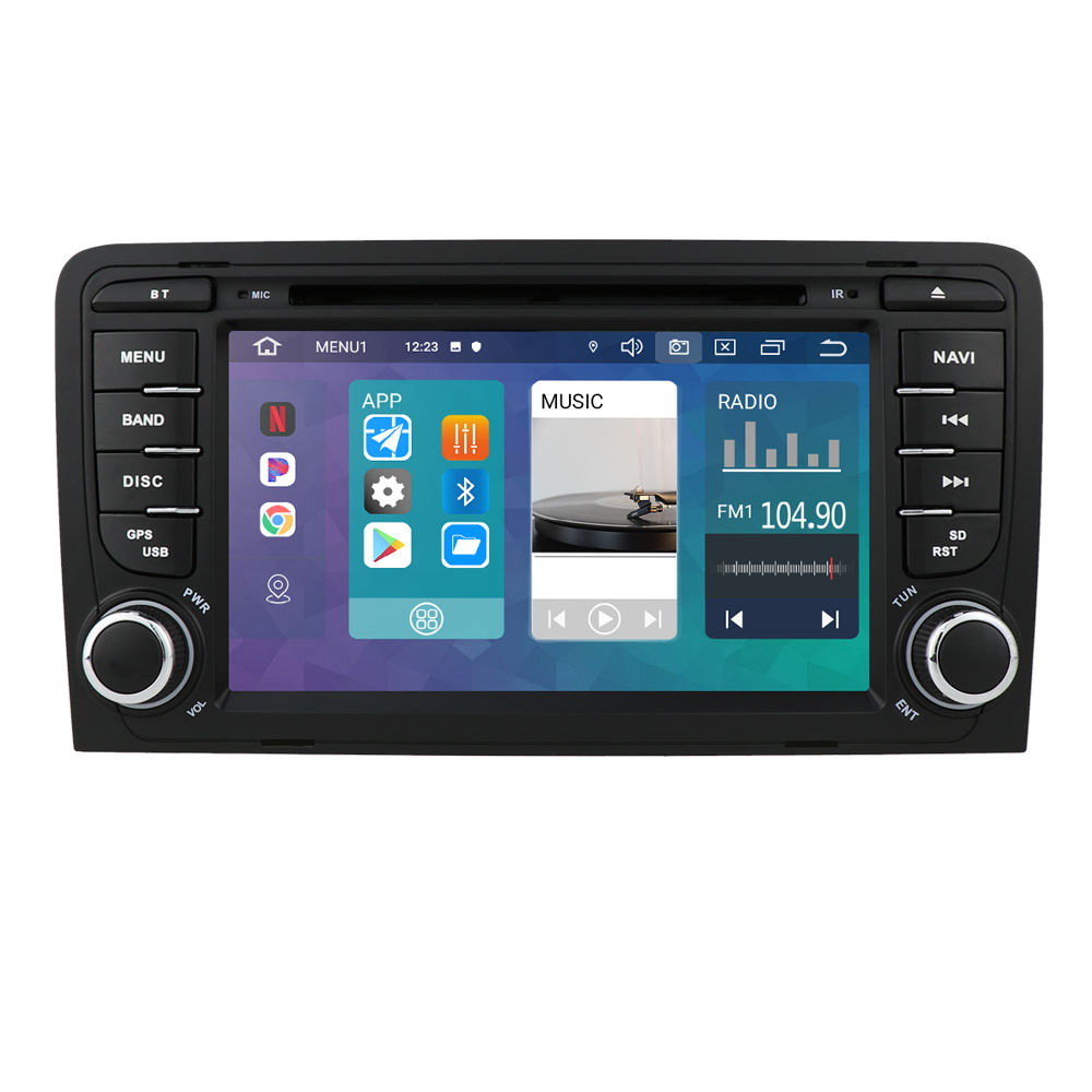 "7 ""Auto Radio Stereo Dvd Gps 2020 Navi Bluetoth MP3 Voor Audi A3 RS3 8V 8P 8pa Rds"