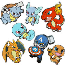 Wholesale High Quality Cartoon Metal Lapel Pin Custom Soft Hard Enamel Pin