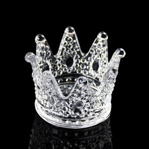 Wholesale Cheap Popular Home Glass Crystal Crown Shaped Ashtrays For Boyfriend Father Gift Decorations