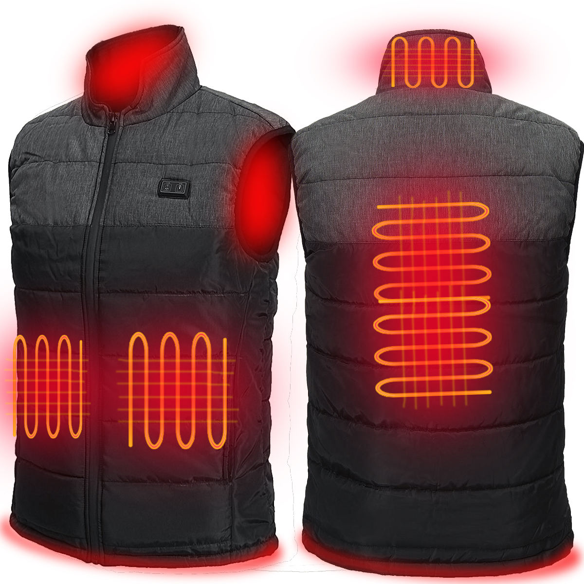 New functional USB 5V battery powered cheap waistcoat for man electric heated mans vest for winter