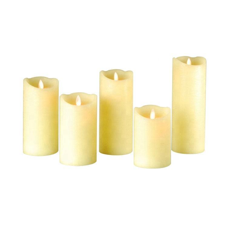 Mattis marfil Pilar forma <span class=keywords><strong>casa</strong></span> decoración de mattis de la fábrica de velas Led