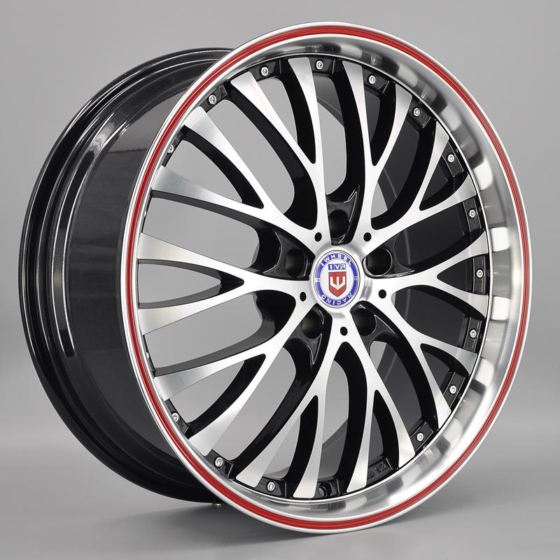 IV-812 Car Forged Beadlock 18 19 Inch Black Machine Face + Red Circle Alloy Wheels Tires And Rims With Factory Price