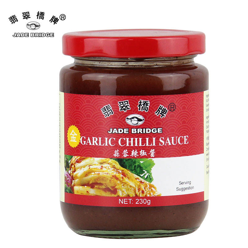 230 g True Chinese Flavor Garlic Chili Sauce for Cooking Food Recipes Or OEM Manufacturer