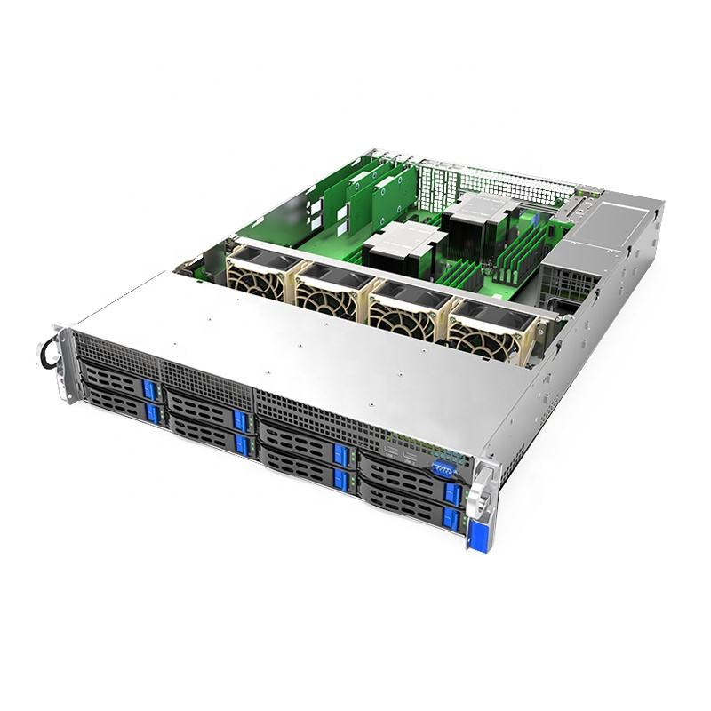 DUGOO KS2308 2u Barebone Rack Server Support 2*intel Scalable Processor 16*DDR4 Slots 8*sas/sata Hot Plug Slots