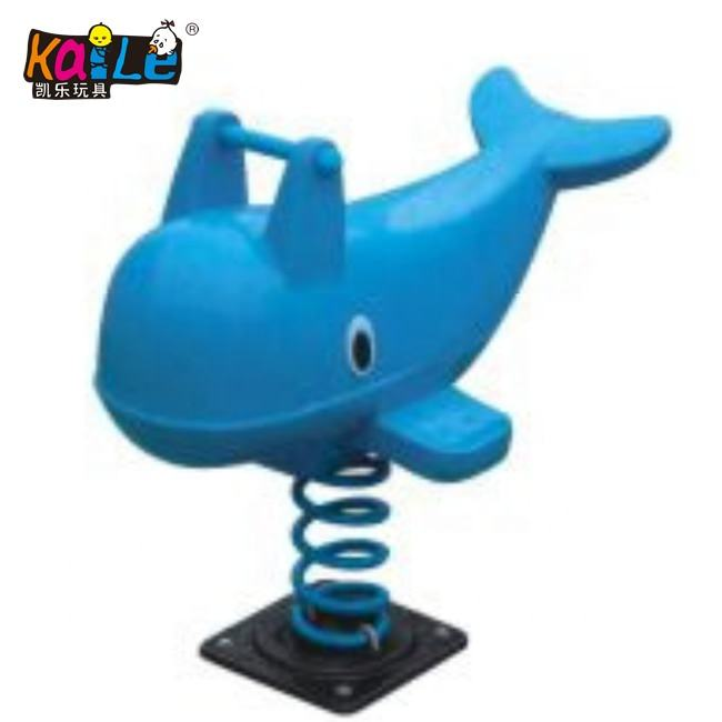 Fashion Playground Plastic Kids Animal Dolphin Kids Rider Spring Rocking Horse