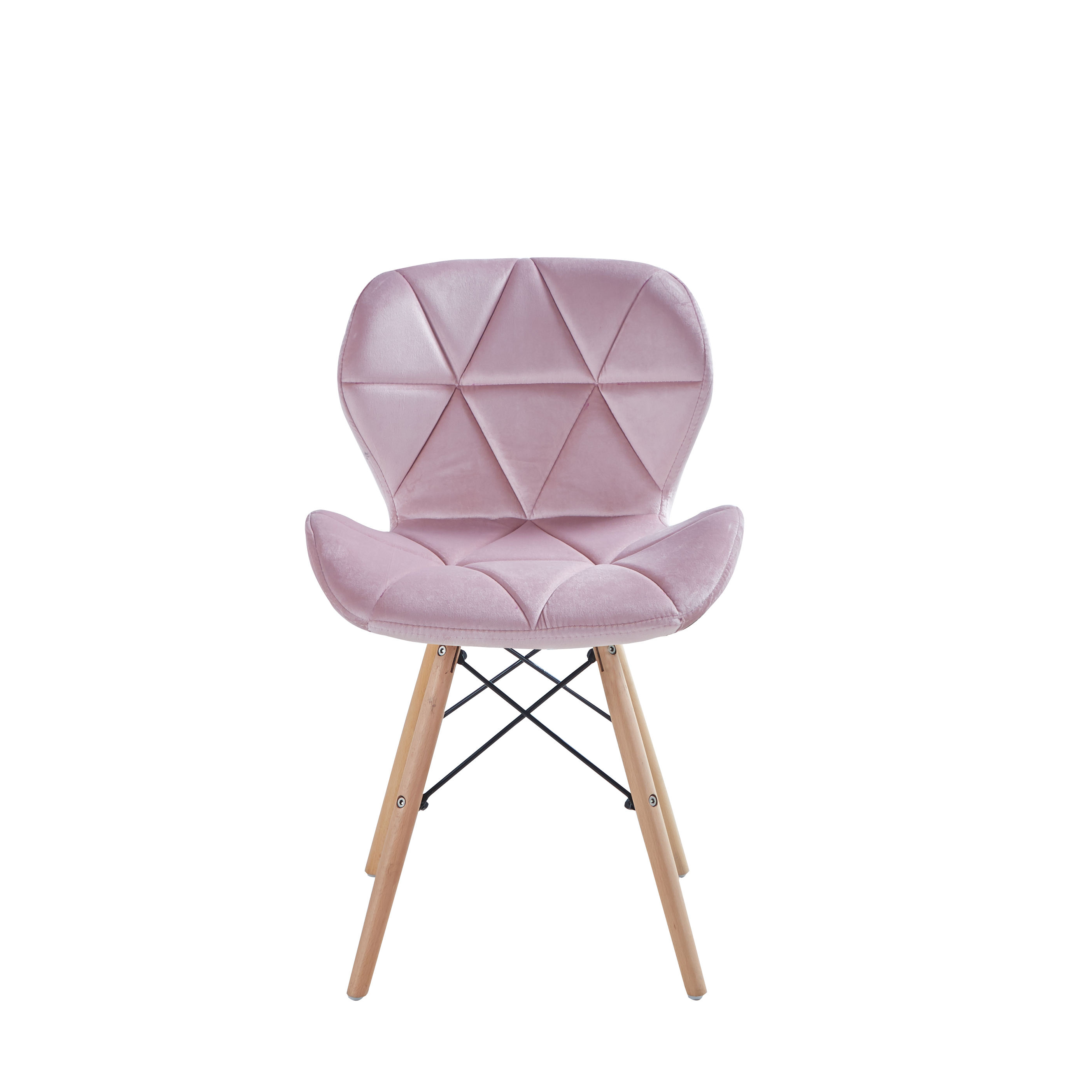 Fashion modern home chair velvet fabric wood leg cheap price comfortable