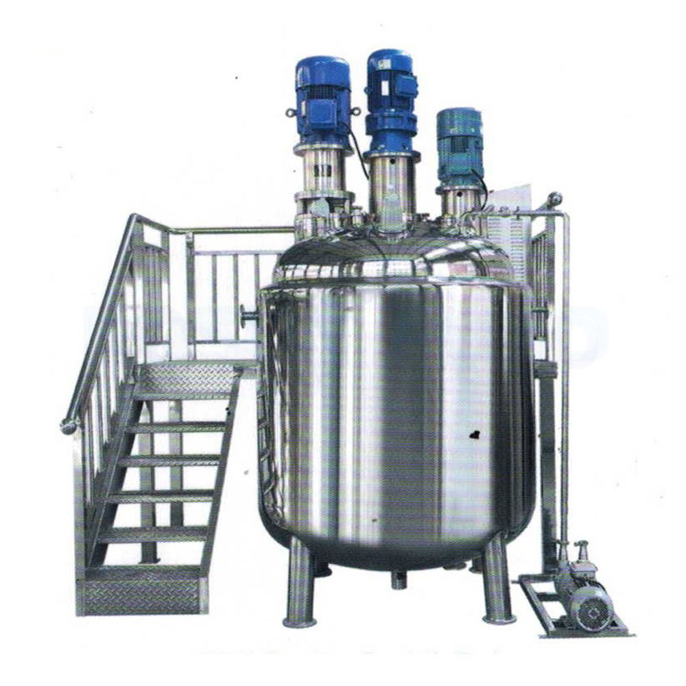 homogenizer tank blending cream jacketed liquid mixer tank heating stainless steel mixing tank with agitator heater