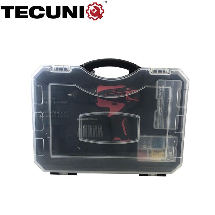 TECUNIQ 81 adet Modern akülü elektrikli alet çantası Combo Set ev onarım
