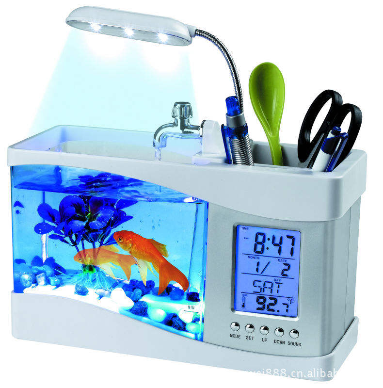 Wholesale USB office fish tank mini landscaping desktop fish tank