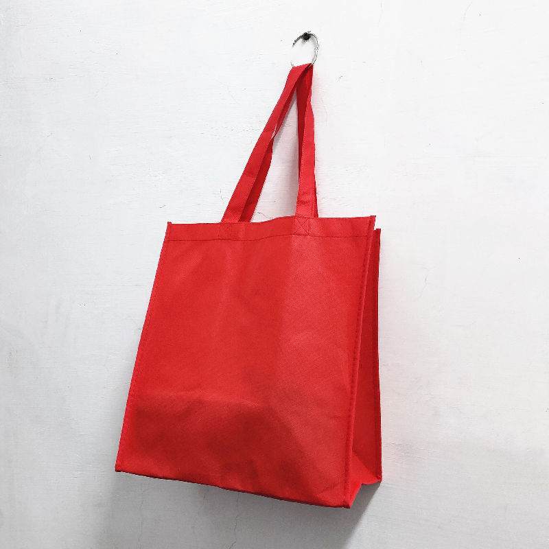 OEM Red PP non-woven tote bag for shopping and promotion