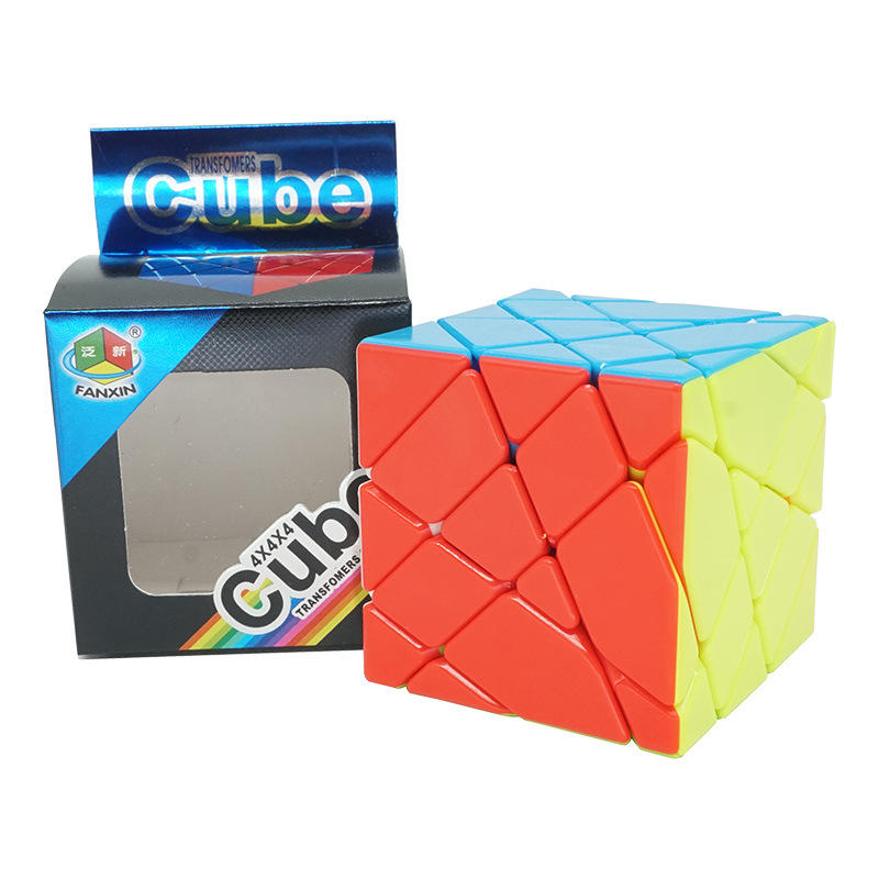 Fanxin As Fisher Magic Cube 4X4 Windmolen Stickerloze Speed Cubes Professionele Puzzel Educatief Speelgoed