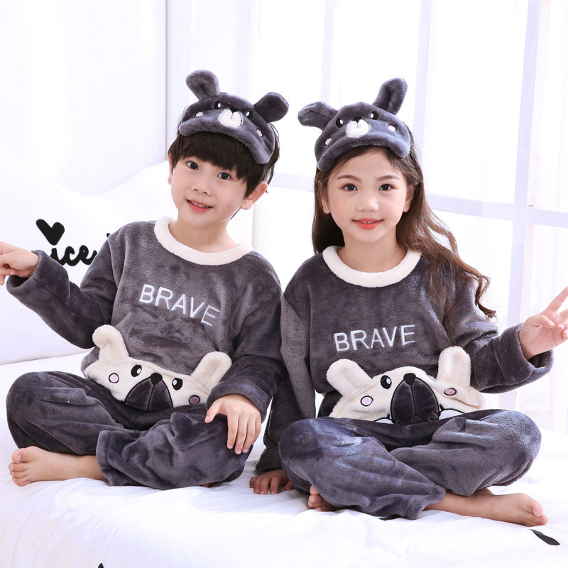 OEM Custom made flannel fleece warm children's bathrobe sleeping kids pyjamas for baby