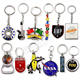 Keychain Custom Shape Souvenir Custom Made Round Metal Keychain
