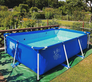 Squares Folding 10ft Overground Pet Inflatable Pool Cover Swimming Pool Aboveground Inflatable Dome Paint Big Size Furniture