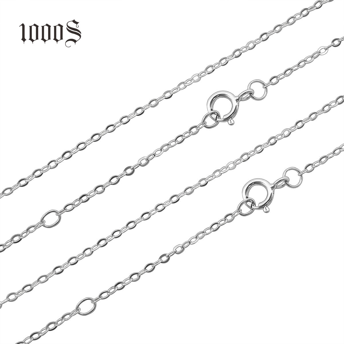 Italian 925 Sterling Silver Jewelry Solid Silver Necklace Chain For Women with 18inches base link chain