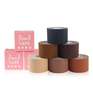 Manufacturer Women Strapless Backlessx Bra Medical Grade Boob Tape Brown Breast Lift Tape