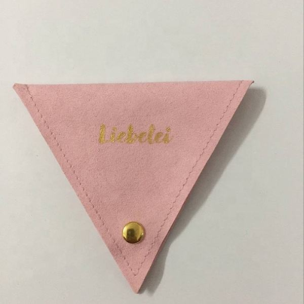 New Triangle shape suede pouch for jewelry packaging factory directly