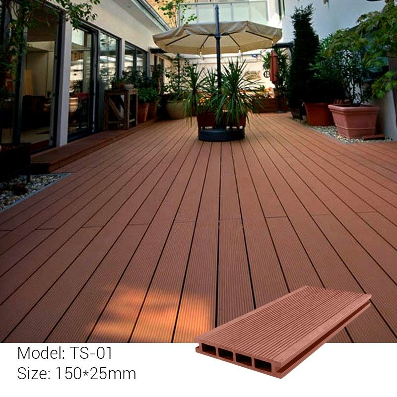 Factory sale outdoor wood flooring wpc poland
