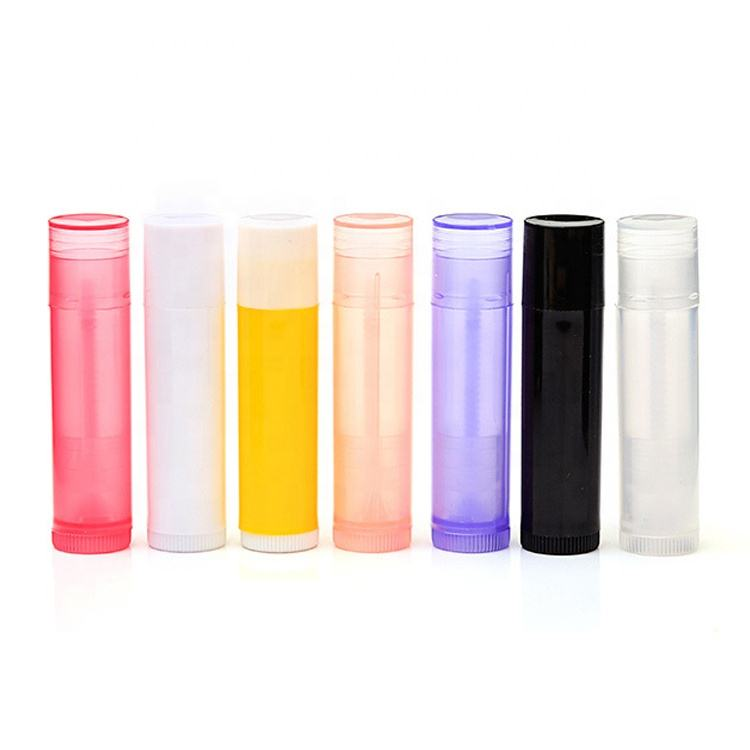 Custom Colorful Wholesale Clear Mini Lip Balm Tube 5g Empty Plastic Lipstick Tube