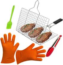 Extra Long Professional Silicone Oven Mitt Oven Mitts with Quilted Liner Heat Resistant Pot Holders Flexible Oven Gloves