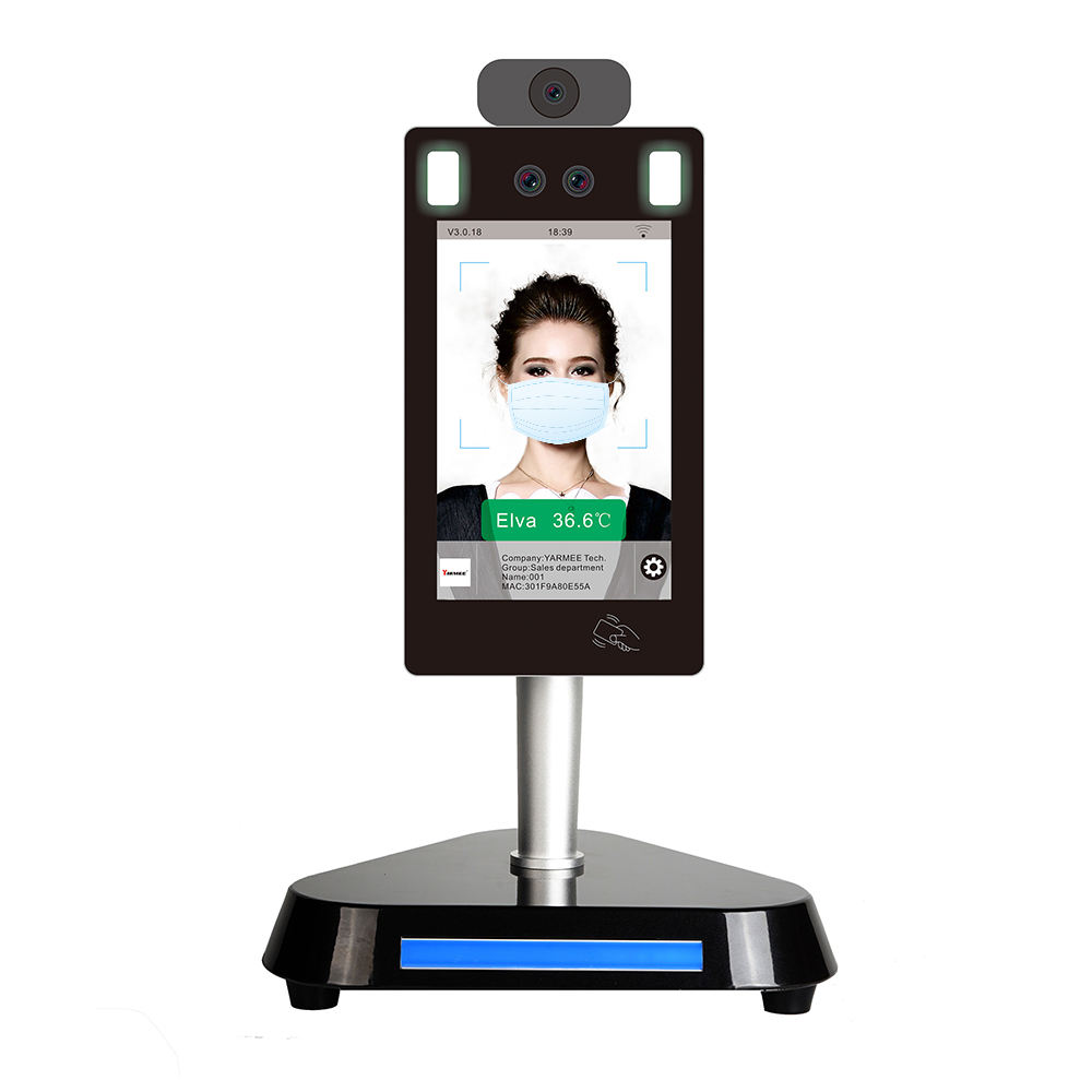 8 Inch Face Recognition Body Temperature Camera Thermometer For Human Body Temperature