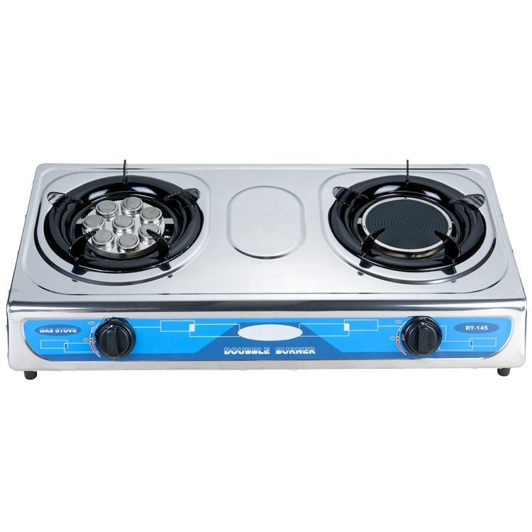 New product home kitchen use electric stainless steel 2 burner freestanding gas cookers stove