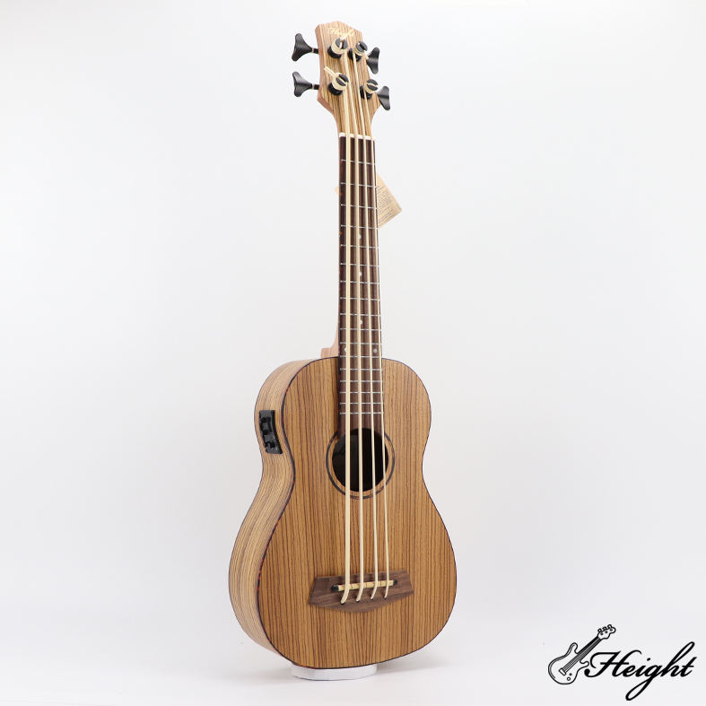 Factory Wholesale High Quality Zebra Wood 4 String Professional U Bass Ukelele