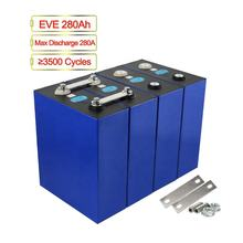 Free Shipping 8pcs/pack LF280 3.2V 280Ah Lifepo4 Battery Cells for 12V 24V 48V Solar System
